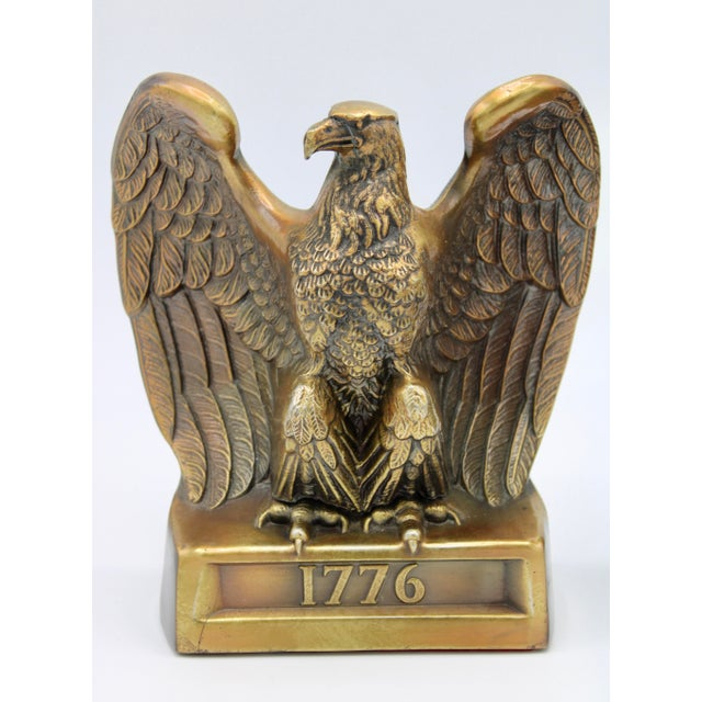 "Mid 20th Century Vintage ""1776"" American Federal Eagle Bookends For Sale - Image 5 of 13"
