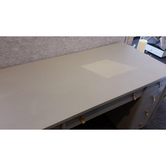 Sligh-Lowry Furniture Co. Mid-Century Modern Sligh-Lowry Partner Desk For Sale - Image 4 of 10