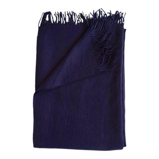 Alpaca Throw in Midnight For Sale