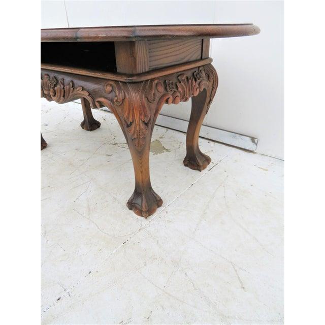 English Oak Chippendale Coffee Table Chairish