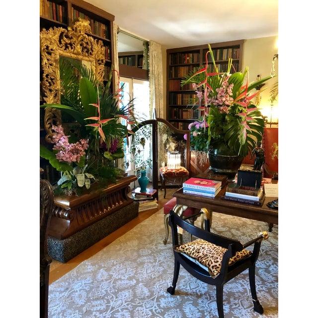 Wood Carved Italian Neoclassical Mahogany Metamorphic Window Bench Jardiniere For Sale - Image 7 of 8