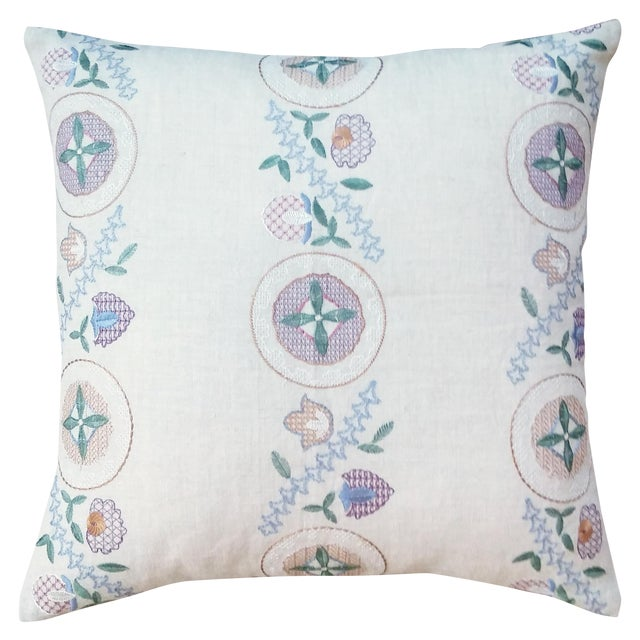 Countryside Embroidered Pillow - Image 1 of 3