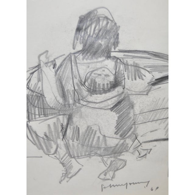 John Young Graphite Drawings - Pair For Sale In San Francisco - Image 6 of 7