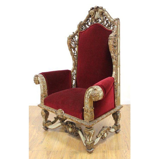18th Century Gilt Chair For Sale - Image 4 of 4