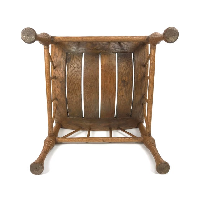 Liberty & Co. 1920's Thebes English Egyptian Revival Stool For Sale - Image 4 of 6