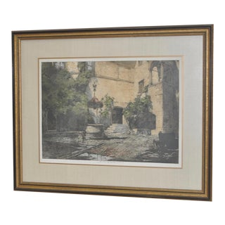 "Luigi Kasimir ""Seebenstein Castle, Austria"" Estate Signed Etching with Aquatint For Sale"