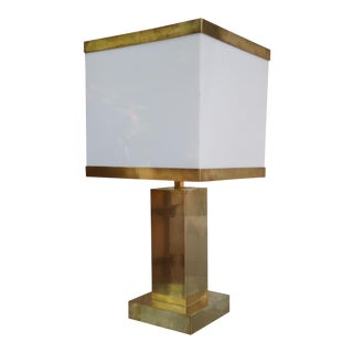 A Gilded Brass Table Lamp, Italy 70'