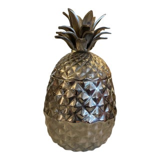 1970s Silver Metal Pineapple Ice Bucket For Sale