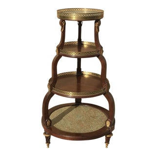 19th Century French Mahogany Four-Tier Stand