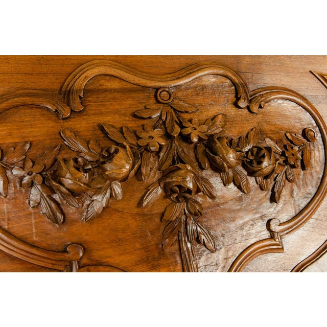 Wood Late 19th Century French Burl Walnut Bed For Sale - Image 7 of 13