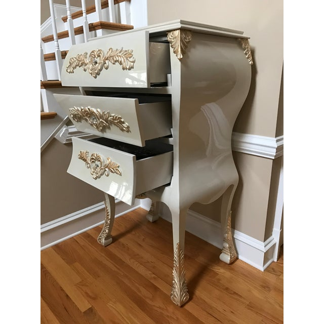 Neoclassical Gold Leaf Accent Chest of Drawers - Image 5 of 7
