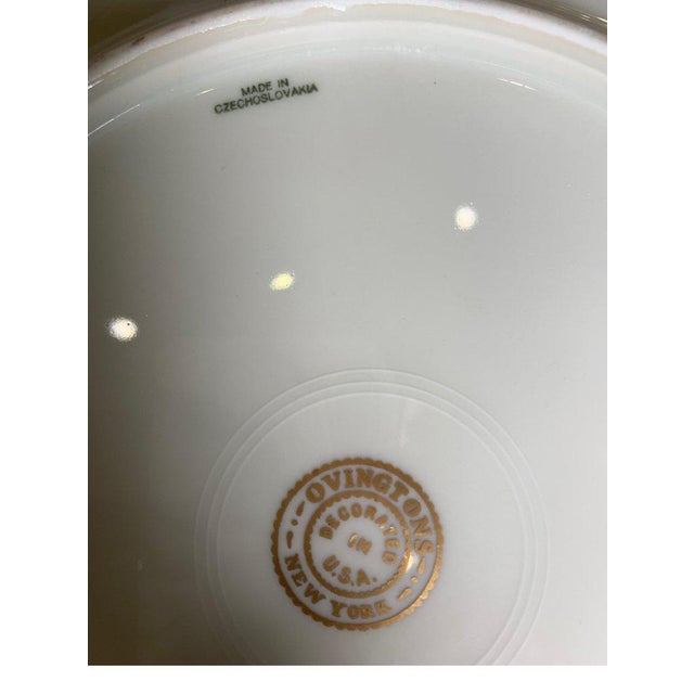 1920s Wide Gold Bordered Service Plates - Set of 12 For Sale - Image 5 of 12