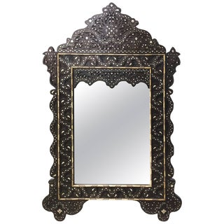 Syrian Mirror With Mother-Of-Pearl Inlay Haskell Antiques For Sale