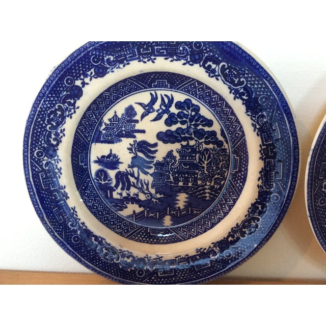 Antique Willow Adderley Plates - A Pair - Image 6 of 10