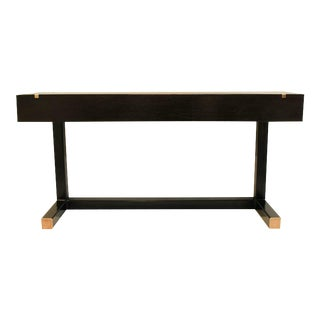 Contemporary Console Table, Using a J. Wabbes 1960's Wenge End-Grain Wood Top