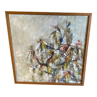 Abstract Expressionist Painting Signed by Marlene Bremer For Sale
