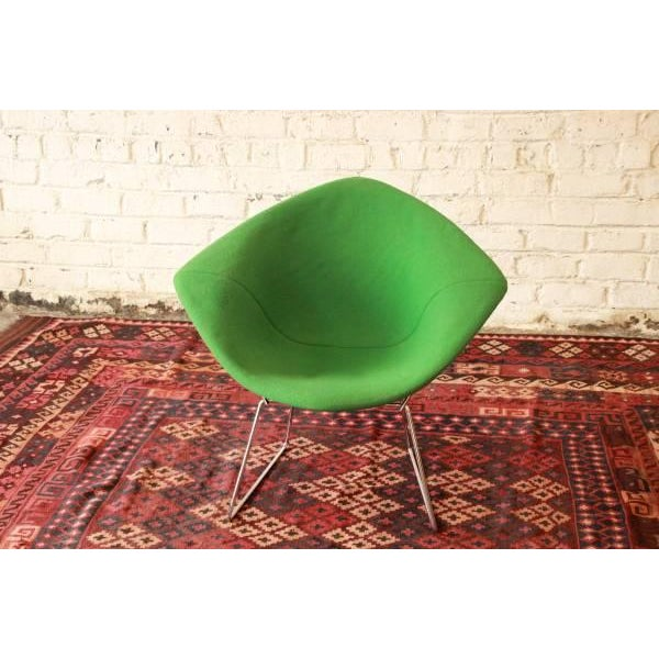 Mid-Century Modern Green Diamond Chair by Harry Bertoia for Knoll For Sale - Image 3 of 8
