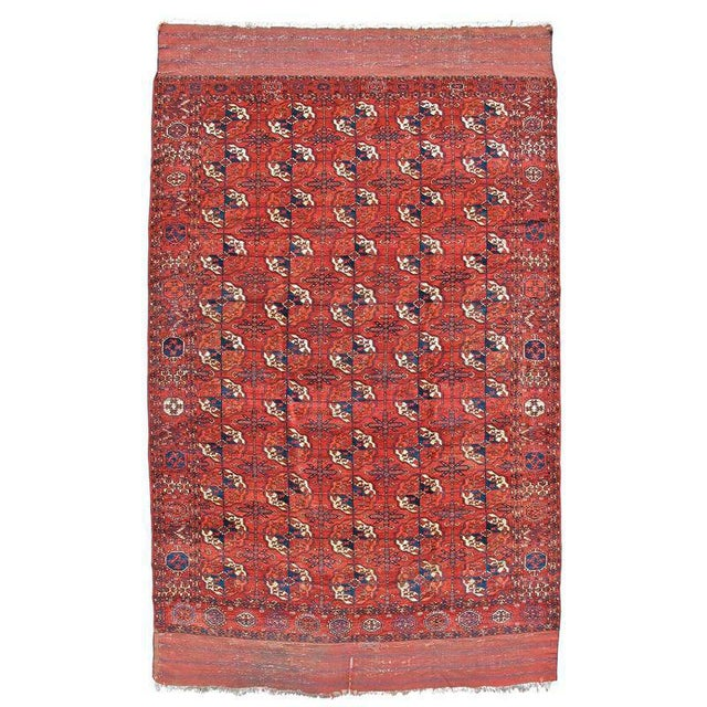 Tekke Main Carpet, Mid 19th C. Turkmen