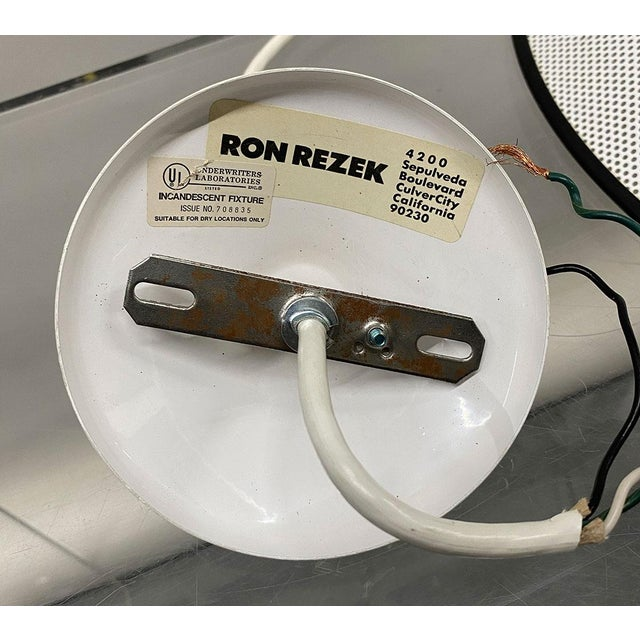 1980s Ron Rezek Pendant Light For Sale - Image 9 of 11