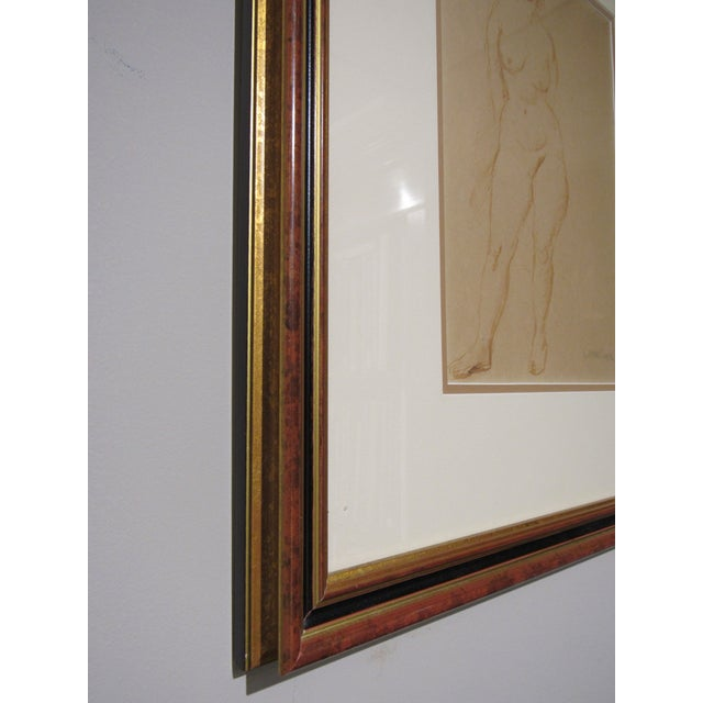 """""""Standing Nude"""" Hand Wash Drawing by Raphael Soyer For Sale - Image 9 of 13"""