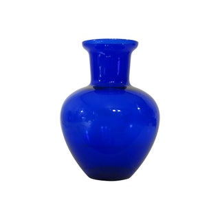 Tall Cobalt Glass Vase