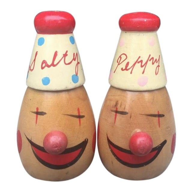 Clown Salt & Pepper Shakers - a Pair For Sale