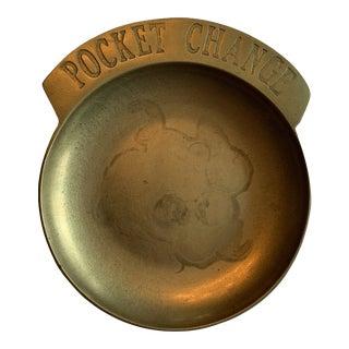 Brass 'Pocket Change' Dish For Sale