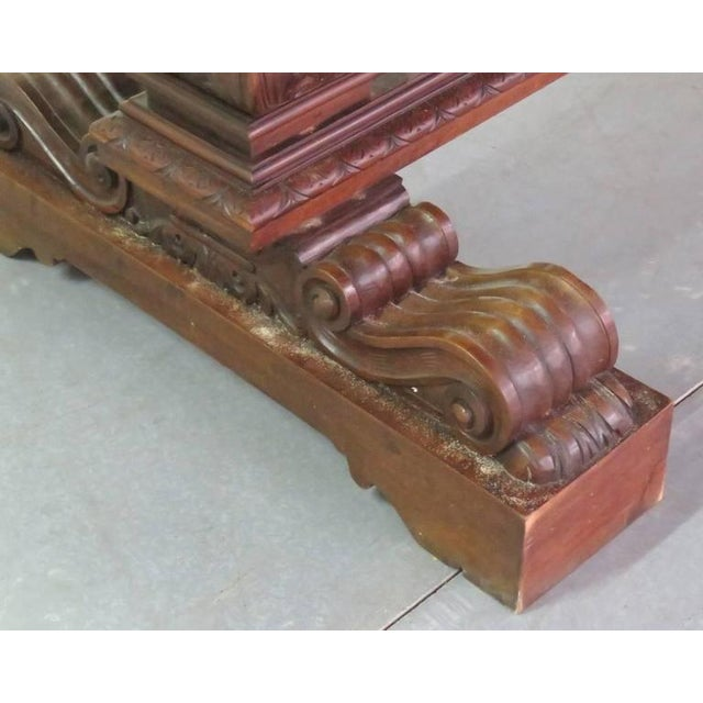 19th Century Carved Walnut Dining Table - Image 6 of 10
