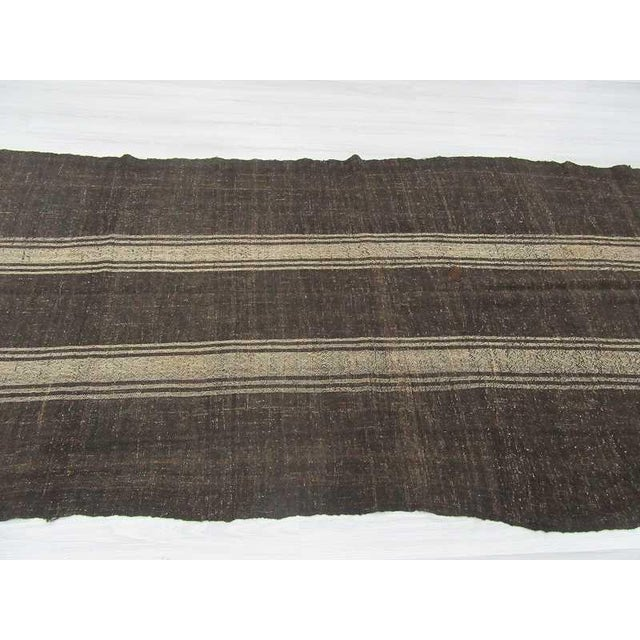 Vintage Striped Grey Turkish Kilim Rug - 5′11″ × 14′3″ For Sale - Image 4 of 6