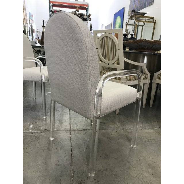 1970s Vintage Lucite Dining Chairs- Set of 6 For Sale In Miami - Image 6 of 10