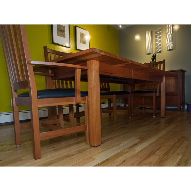 2000 - 2009 Mission Style Brazillian Cherry Wood Dining Set From Crate & Barrel For Sale - Image 5 of 9
