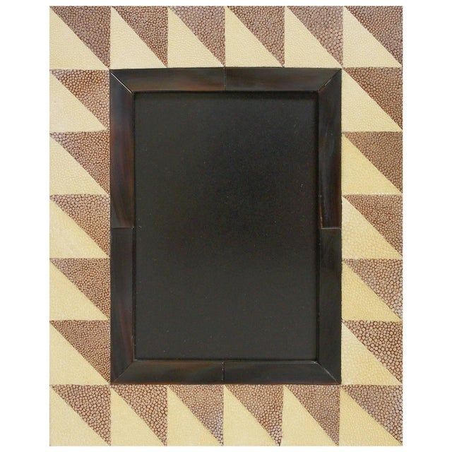 Animal Skin Shagreen and Horn Photo Frame by Fabio Ltd For Sale - Image 7 of 7