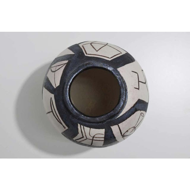 Ovoid Vessel With Geometric Design in Style of Guido Gambone, 2011 For Sale In New York - Image 6 of 9
