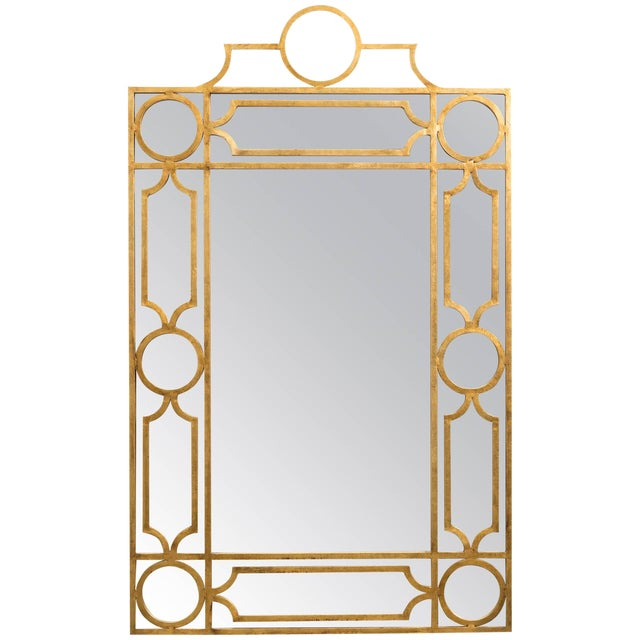 Gilt Metal Mirror For Sale
