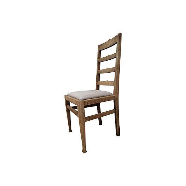 Antique Oak Ladder-Back Chair - Image 3 of 3
