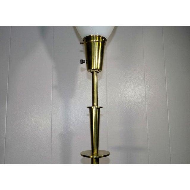 Metal 1960s Mid-Century Modern Stiffel Starburst Brass Torchiere Floor Lamp For Sale - Image 7 of 13