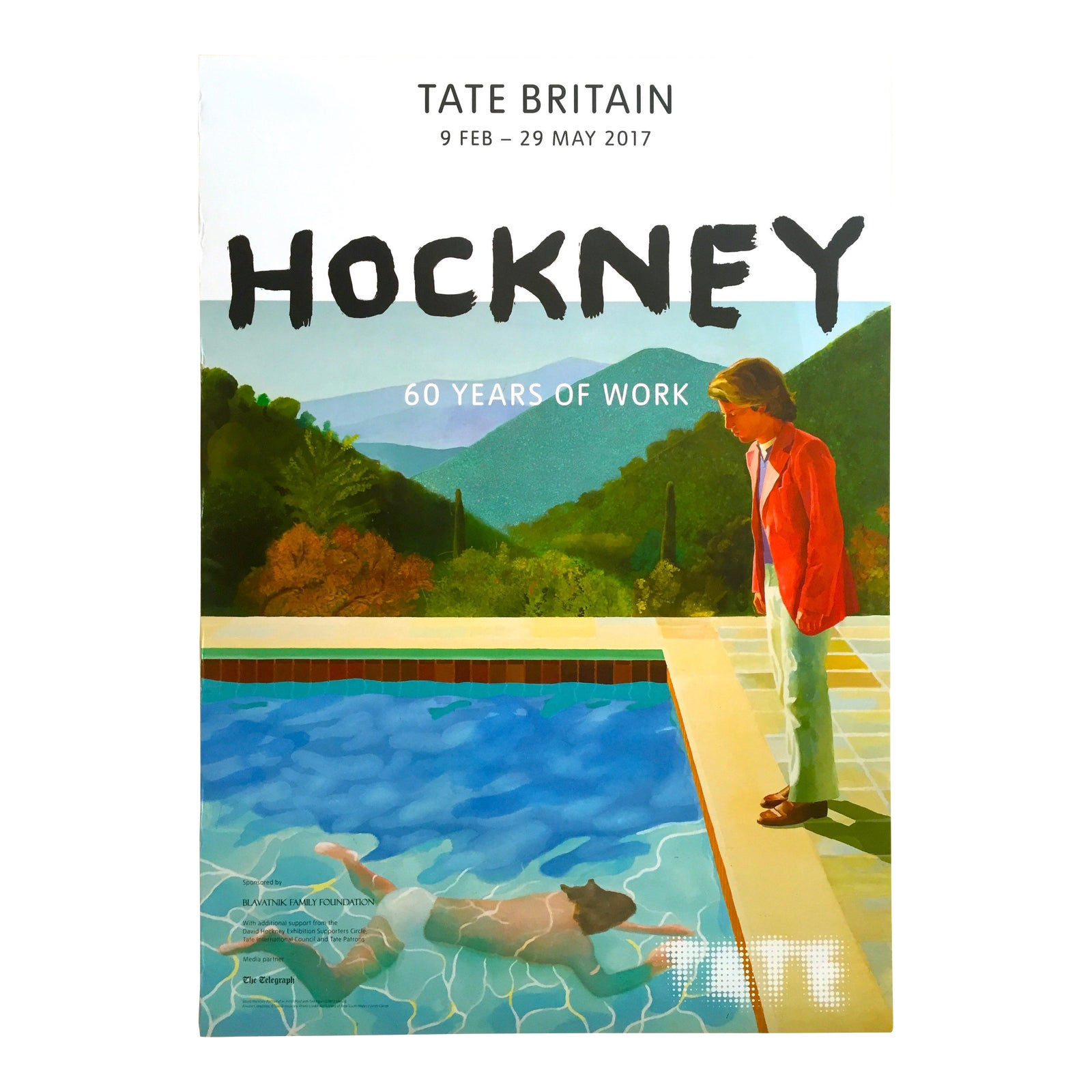 """David Hockney Tate Museum Lithograph Print """"60 Years of ..."""