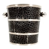 Image of English Silver Plated Barware Crocodile Wine Cooler or Ice Bucket For Sale