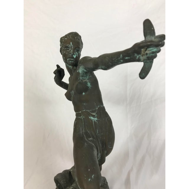 "Art Deco "" Diana the Huntress"" Art Deco Bronze Sculpture For Sale - Image 3 of 9"