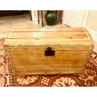 19th Century American Pine Dome Stenciled Trunk Preview