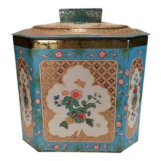 English Vintage Octagon Tin