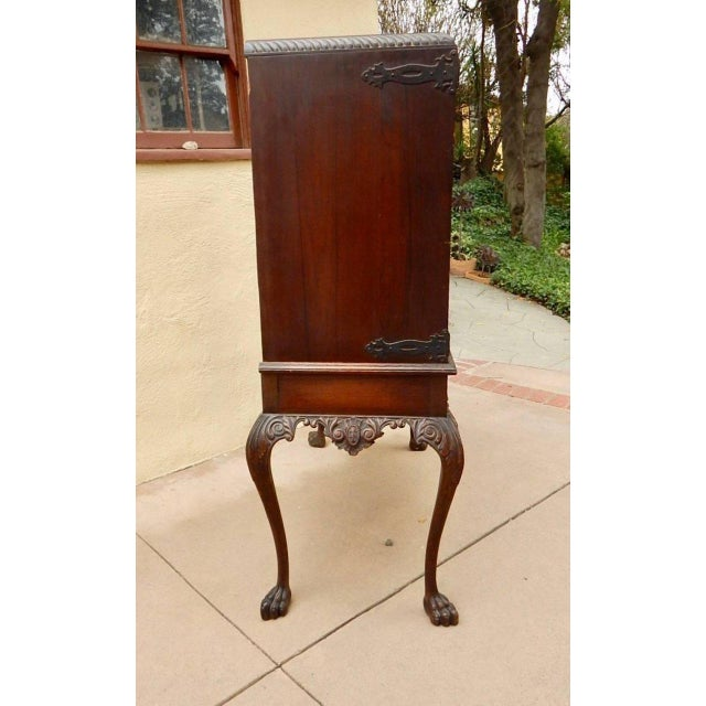 Metal 1920s Spanish Colonial Heraldic Theme Storage Cabinet For Sale - Image 7 of 11