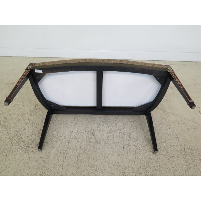 Italian Made Hepplewhite Paint Decorated Double Settee For Sale - Image 10 of 13