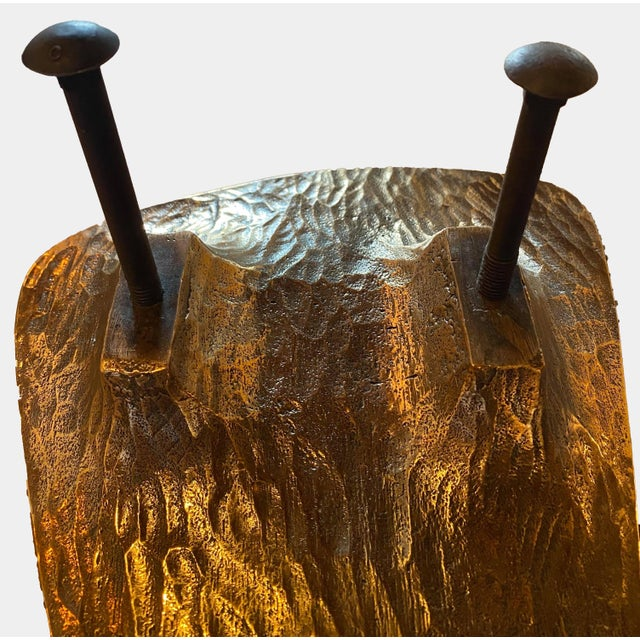 Brass 1960s Richard Myklebust Sculptural Door Handles - a Pair For Sale - Image 8 of 9
