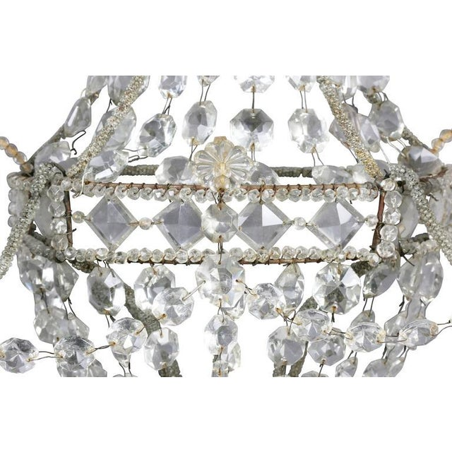 Pair of Classical Style Cut Glass Wall Lights For Sale - Image 5 of 8