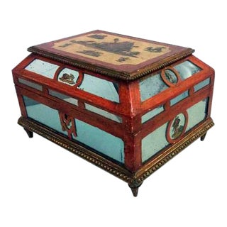 Antique 19th C. European Ornate Wooden Box For Sale