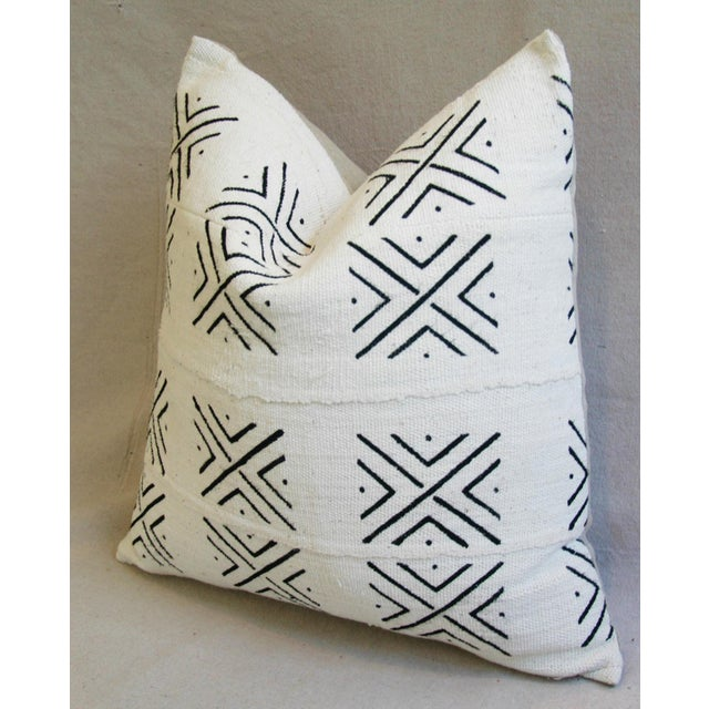 African Mali Mud Cloth Tribal Textile Pillow - Image 5 of 5