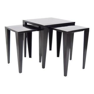 Fran Hosken Mid-Century Modern Nesting Tables - Set of 3 For Sale