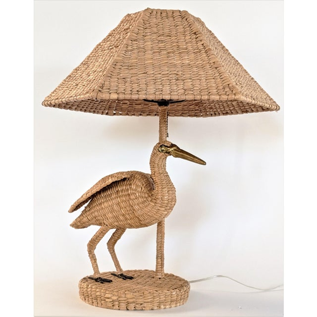 1970s Mario Lopez Torres Crane Table Lamp For Sale - Image 12 of 12