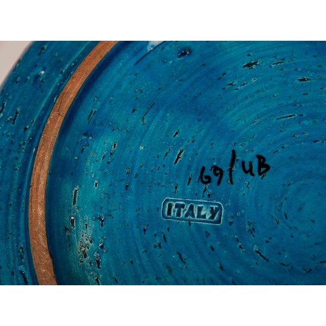 Large Italian Bitossi Turquoise Glazed Patterned Bowl circa 1965 For Sale - Image 10 of 10